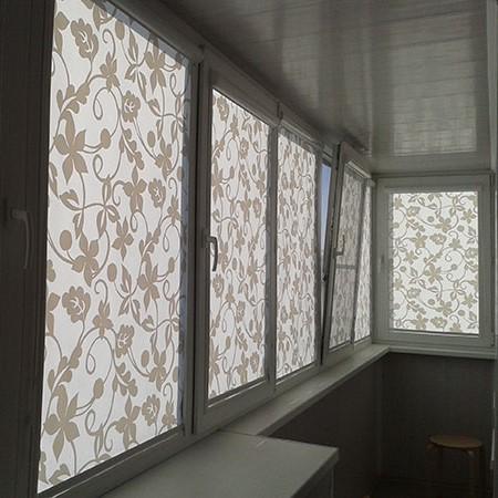 Дизайн лоджии. Рулонные шторы, жалюзи на лоджию.