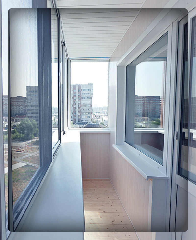 остекление балконов с отделкой картинки цвет интерьере