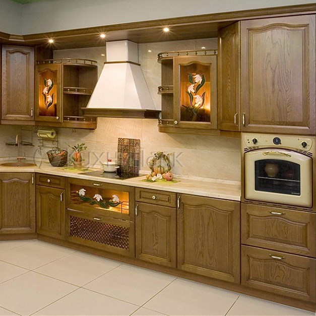 Деревянные фасады для кухни фото