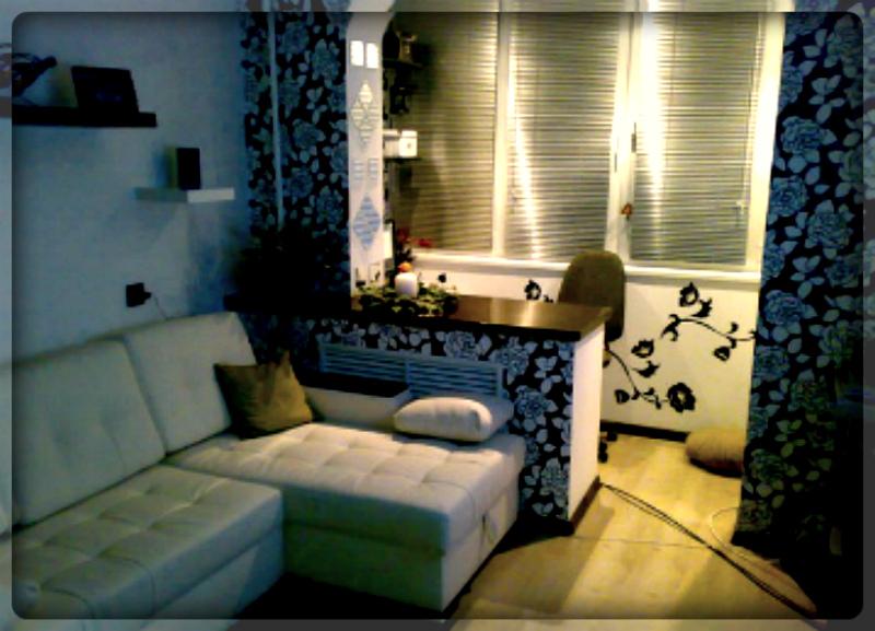 Дизайн утепленной лоджии совмещенной с комнатой..